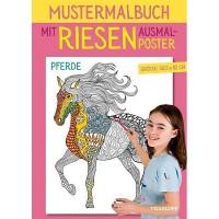 Mustermalbuch mit RIESEN Ausmalposter Pferde