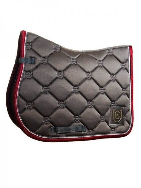 Equestrian Stockholm Springschabracke,grey bordeaux - Full